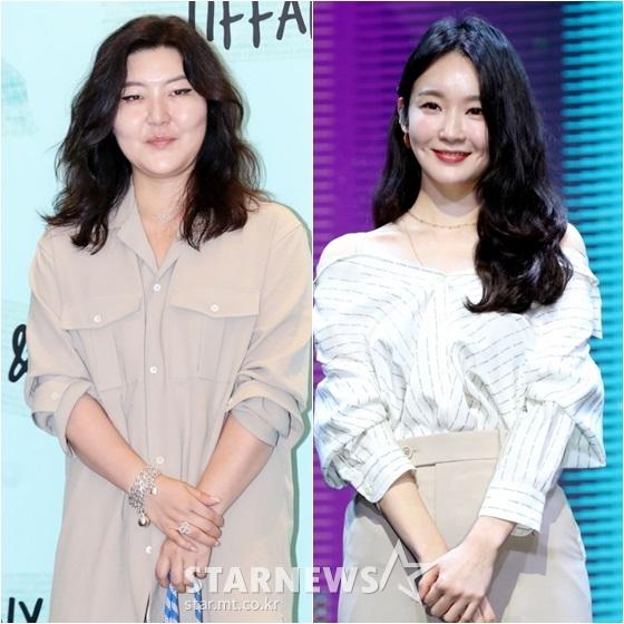 한혜연(왼쪽)과 강민경 /사진=홍봉진, 김휘선 기자