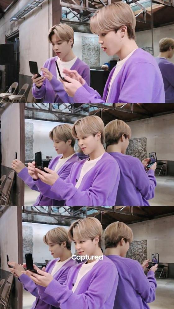 방탄소년단 지민, 삼성 갤럭시 Z플립 광고 속 360도 완벽 비주얼 '화제'
