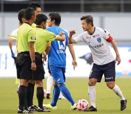 미우라 카즈요시(오른쪽). /사진=닛칸스포츠 캡처
