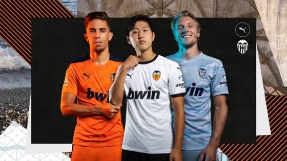 발렌시아의 2020~2021시즌 새 유니폼. 이강인이 메인 모델로 배치됐다. /사진=발렌시아 홈페이지