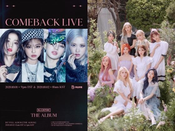 블랙핑크(왼쪽), 트와이스 /사진제공=YG엔터테인먼트, JYP엔터테인먼트