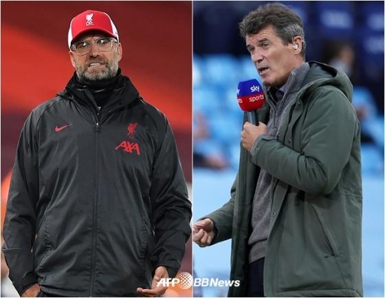 위르겐 클롭 리버풀 감독(왼쪽)과 비평가로 활동하고 있는 로이 킨.