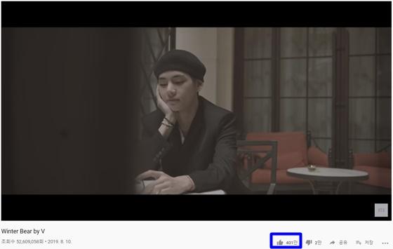 방탄소년단 뷔 '윈터베어'(Winter Bear by V) 뮤직비디오 화면 캡쳐