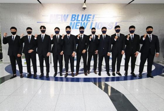 삼성 라이온즈 2021년 신인들. /사진=삼성 라이온즈 제공