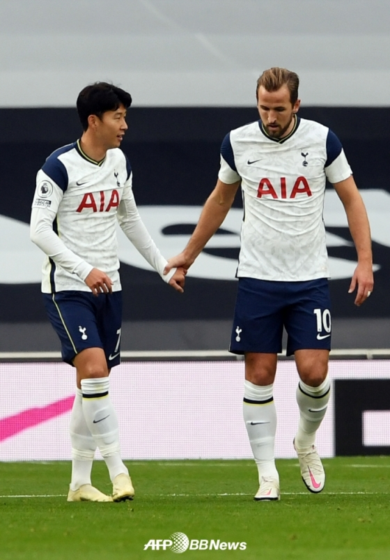 손흥민(왼쪽)과 해리 케인. /AFPBBNews=뉴스1