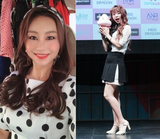 김양(왼쪽)과 우현정. /사진=김창현 기자, 김양 인스타그램(왼쪽)
