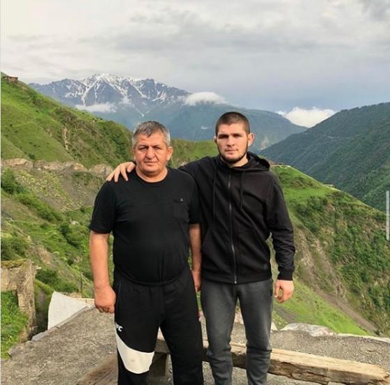 하빕의 아버지 압둘마납(왼쪽)과 하빕. /사진=하빕 인스타그램