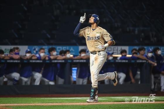 지난 3일 홈런으로 100타점을 달성한 NC 알테어. /사진=NC 제공