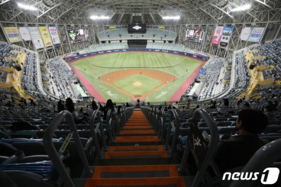 24일 한국시리즈 6차전이 열린 고척 스카이돔의 모습. /사진=뉴스1