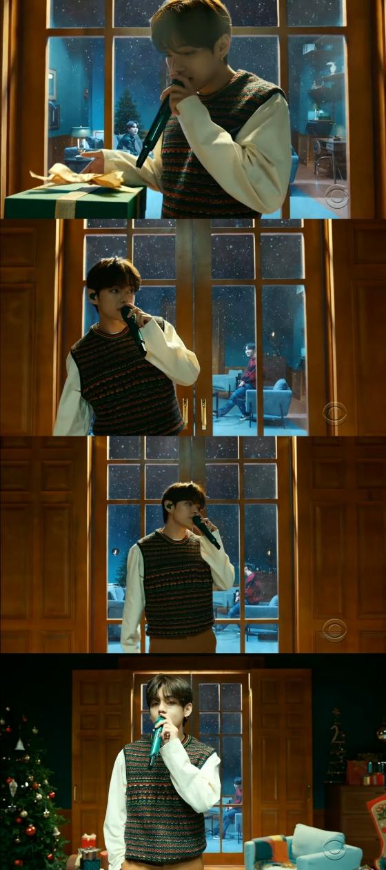 방탄소년단 뷔(BTS V) /사진=미국 CBS '더 레이트 레이트 쇼 위드 제임스 코든'