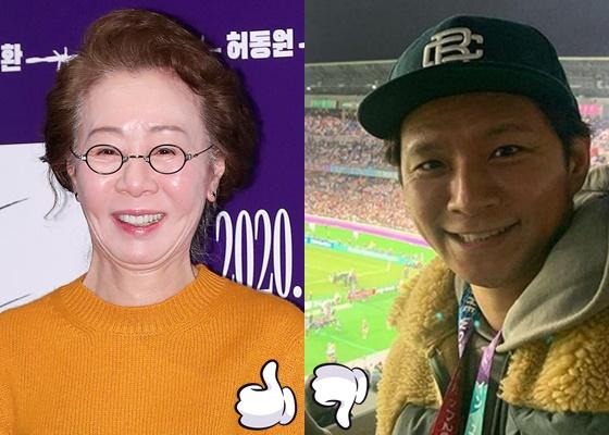 윤여정, 와타베 켄 /사진=김창현 기자 chmt@, 와타베 켄 인스타그램