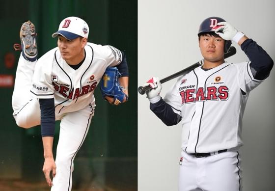 정현욱(왼쪽)과 권기영. /사진=OSEN, 두산