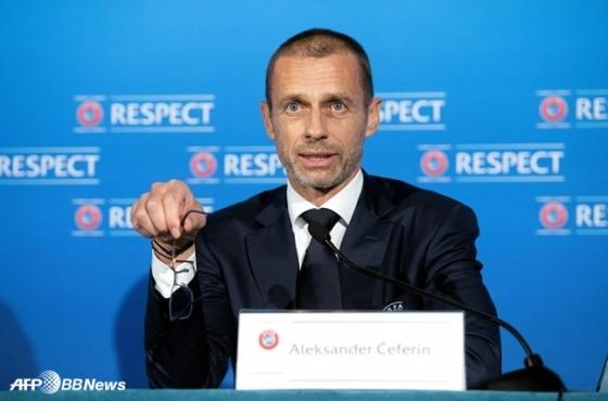 알렉산데르 체페린 유럽축구연맹(UEFA) 회장. /AFPBBNews=뉴스1