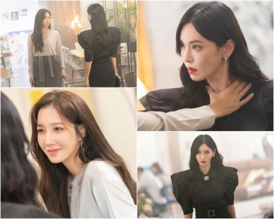 SBS 금요드라마 '펜트하우스3' 김소연과 이지아의 대치 현장이 공개됐다./사진제공=SBS 금요드라마 '펜트하우스3'
