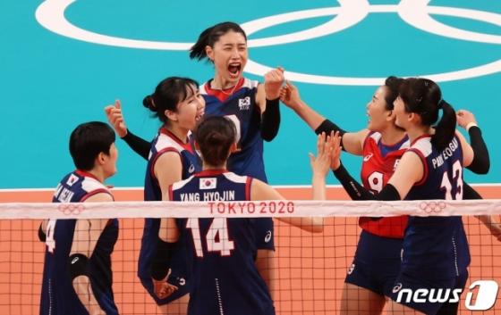 한국 여자 배구대표팀/사진=뉴스1