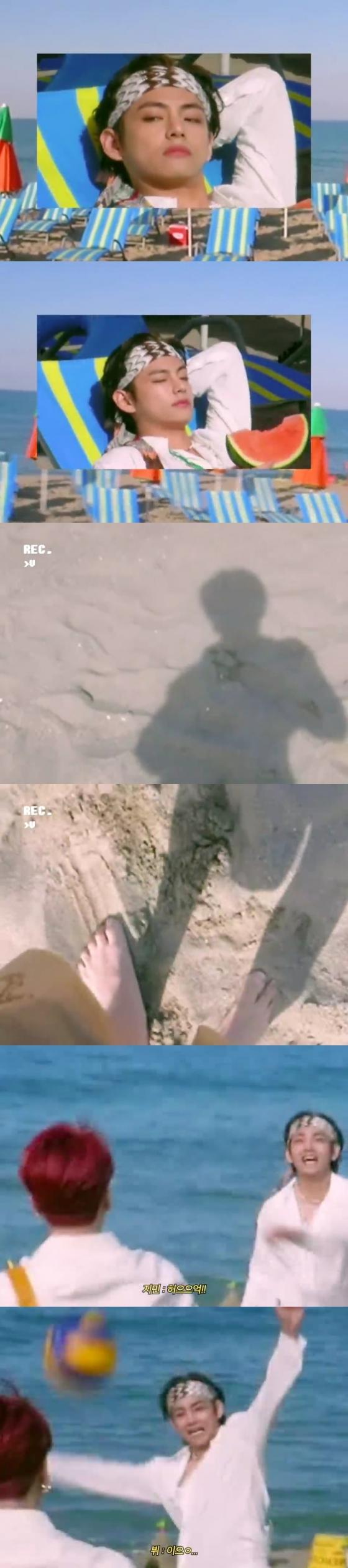 태형이는 또 너무 예뻤다♥ 방탄소년단 뷔, 빈티지 캠 속 4K 미모