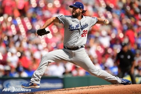 20일 신시내티전에 선발 등판해 호투를 펼친 LA 다저스 클레이튼 커쇼. /AFPBBNews=뉴스1