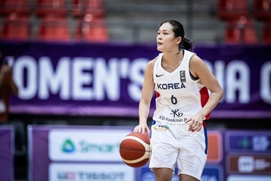 27일 FIBA 여자 아시아컵 A조 예선 1차전 뉴질랜드전에서 최다 득점을 만들며 한국의 승리를 이끈 최이샘. /사진=FIBA 제공