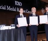 엑소, '자랑스러운 스타메달 1호'