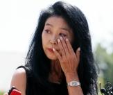 눈물 흘리는 김부선