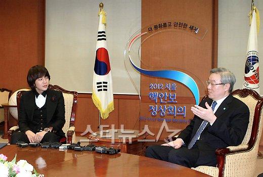 [★포토]장근석, '김성환 장관과 면담'