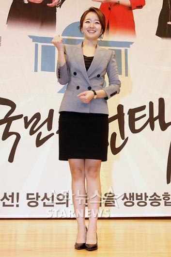 [★포토]박선영 아나운서, '개표방송 파이팅!'