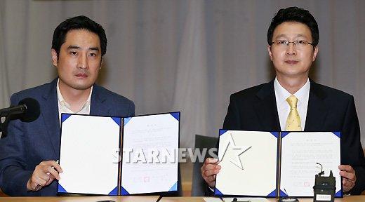 [★포토]강용석-한국아나운서협회 합의
