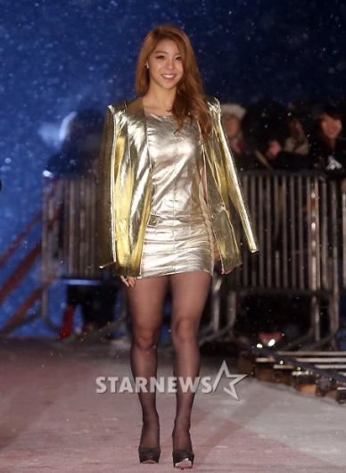[★포토]에일리, '황금빛 초미니'