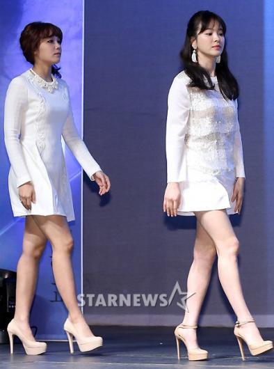 [★포토]송혜교-정은지, 순백의 대결!