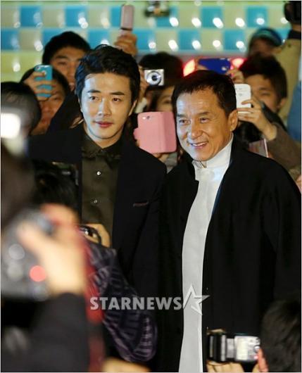 [★포토]성룡-권상우 '한국서도 인기 최고!'