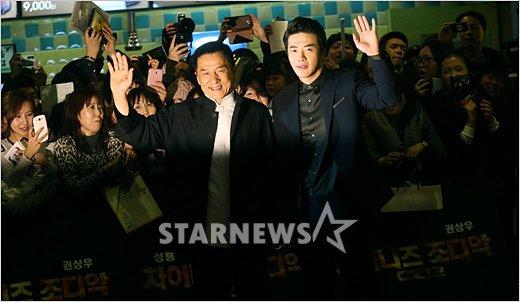 [★포토]성룡, 권상우와 함께 레드카펫!