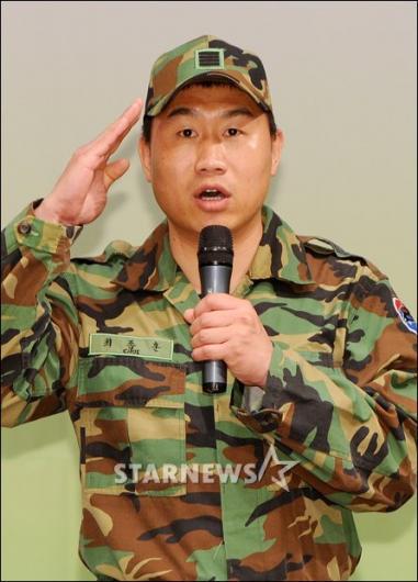 [★포토]최종훈 '말년병장의 각잡힌 거수경례!'