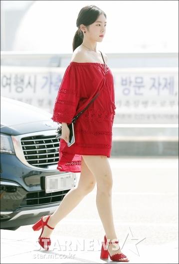 [★포토]아이린, '공항에 나타난 레드여신'