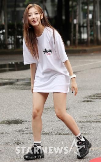 [★포토]정예인, '티셔츠 한장으로 끝낸 패션'