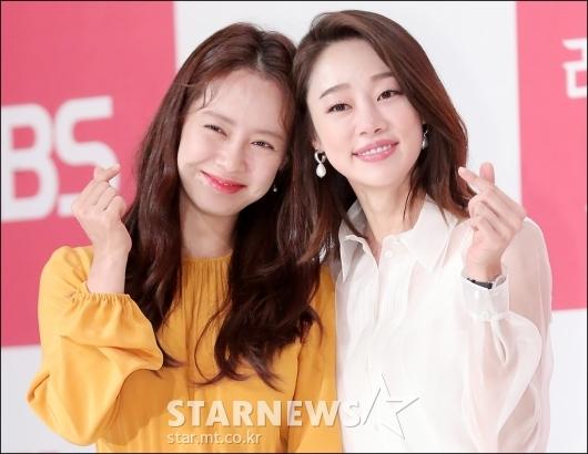 [★포토]송지효-최여진, '사랑스러운 하트'