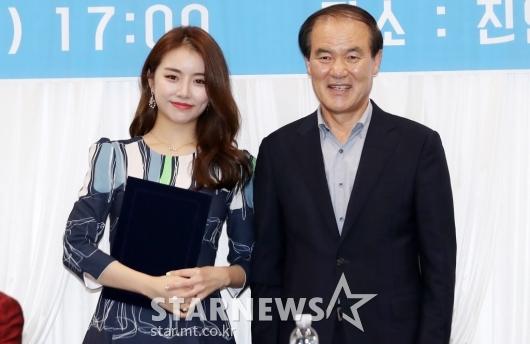 [★포토]설하윤, '트로트 페스티벌 홍보대사 됐어요'
