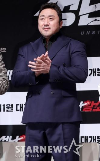 [★포토]마동석, '박수치기 힘든 팔근육'