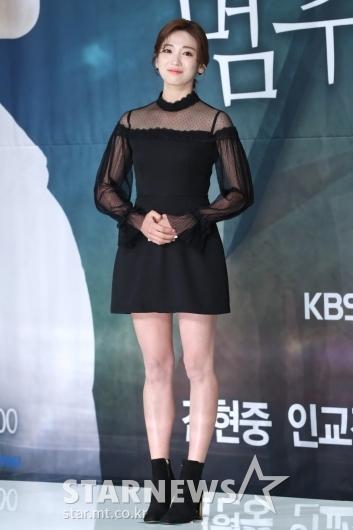 [★포토]안지현, 단아한 블랙 원피스