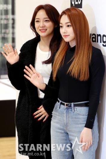 [★포토]세정-미나, '반가워요'