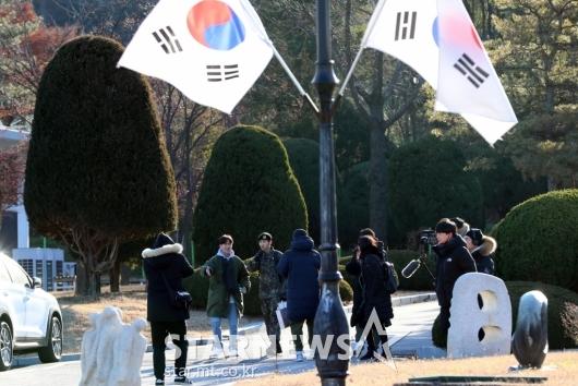 [★포토]광희 '전역과 동시에 예능 촬영중'