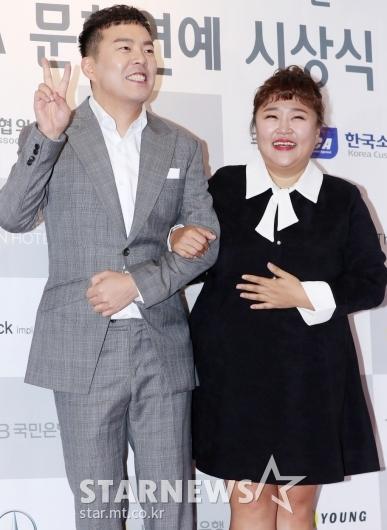 [★포토]김민기-홍윤화, '우리 지금 행복해요'