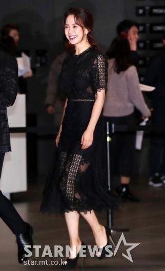 [★포토]송지효, '섹시한 블랙 시스루'