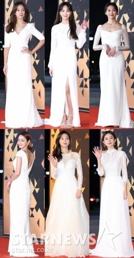 [★포토]'KBS 연기대상' 빛낸 순백의 여신들