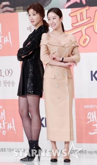 [★포토]이시영-전혜빈, '의상만 봐도 대비대는 캐릭터'