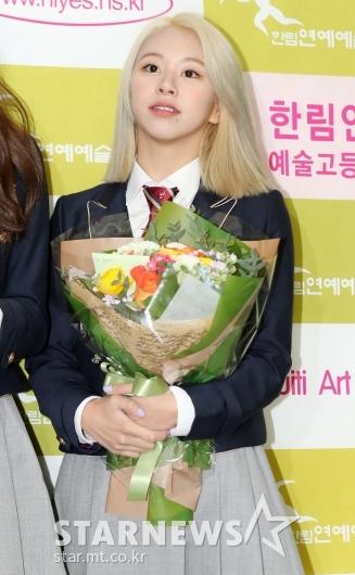 [★포토]채영, '아기사자 졸업합니다'
