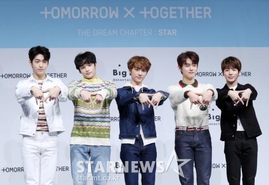 [★포토]BTS 동생그룹 '투모로우바이투게더' 데뷔