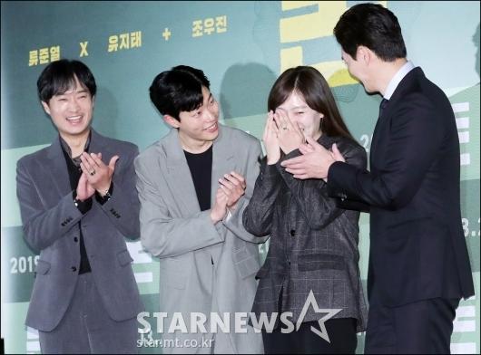 [★포토]조우진-류준열-유지태, '첫 영화 축하드려요'