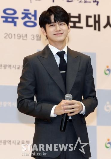 [★포토]옹성우 '인천시교육청의 새얼굴'