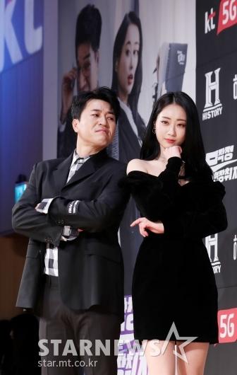 [★포토]김종민-경리, '초보 기자단'