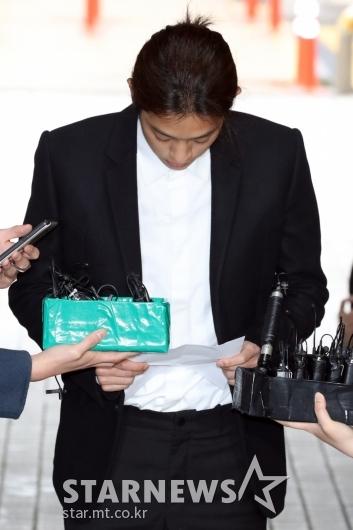 [★포토]'성관계 몰카' 정준영, '죄송합니다'